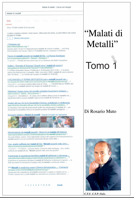Presentazione del libro malati di metalli